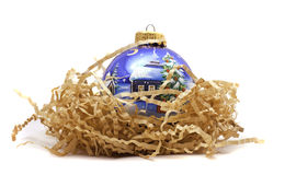 Christmas bauble isolated on white Stock Photos