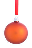 Christmas bauble isolated on white background Stock Photo
