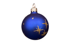 Christmas bauble isolated on white background Royalty Free Stock Photography