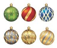 Christmas bauble. Isolated on white background,illustration decoration Stock Photos