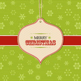 Christmas bauble label background Stock Photos