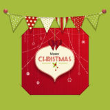 Christmas bauble lable insert Stock Images