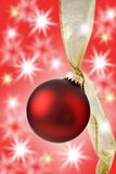 Christmas bauble and light Royalty Free Stock Photo