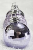 Christmas Bauble Line on Snow Royalty Free Stock Image