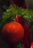 Christmas bauble in low light Stock Image