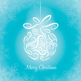 Christmas bauble. Merry Christmas. Greeting card with Christmas bauble Stock Photos