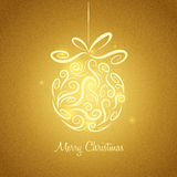 Christmas bauble. Merry Christmas. Greeting card with Christmas bauble Stock Images