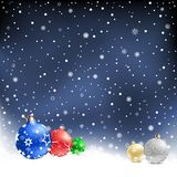 Christmas bauble night background Royalty Free Stock Images