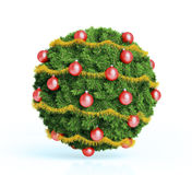 Christmas bauble ornament. A Christmas bauble ornament made out of fir twigs Stock Images