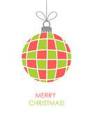 Christmas bauble ornament vector Royalty Free Stock Images