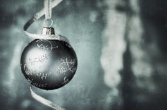 Christmas bauble in pale blue colors Stock Photo