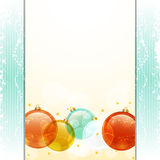 Christmas bauble panel background Stock Photography