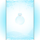 Christmas bauble panel background blue Stock Photo