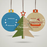 3 Christmas Bauble Price Sticker Royalty Free Stock Photos