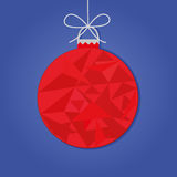 Christmas bauble. Red christmas bauble. New Year background. Vector illustration Royalty Free Stock Photo