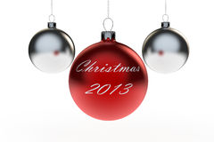 Christmas 2013 Bauble Royalty Free Stock Image