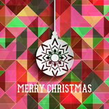 Christmas bauble on a retro abstract background Royalty Free Stock Photo