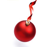 Christmas bauble with ribbon Royalty Free Stock Images