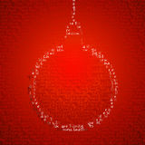 Christmas bauble shape with write words Royalty Free Stock Images