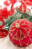 Christmas Bauble in Snow Royalty Free Stock Photo