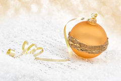 Christmas bauble on snow Stock Photography