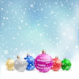 Christmas bauble snow Stock Images