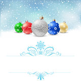 Christmas bauble snow pattern Stock Photography