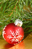 Christmas bauble with snowflake Royalty Free Stock Photo