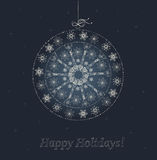 Christmas bauble from snowflakes. Christmas bauble from snowflakes and stars vector illustration