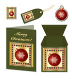Christmas bauble stationery Stock Images