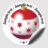 Christmas bauble sticker Royalty Free Stock Image