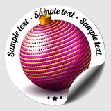 Christmas bauble sticker Stock Photography