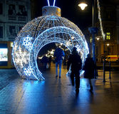 Christmas bauble street. Royalty Free Stock Images