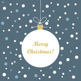 Christmas bauble tag Royalty Free Stock Photos