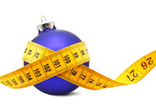 Christmas Bauble tape measure Stock Images