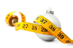 Christmas Bauble tape measure Stock Photos