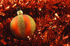 Christmas Bauble and Tinsel Royalty Free Stock Image