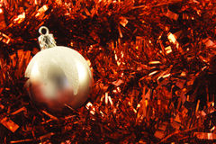 Christmas Bauble and Tinsel Stock Photos