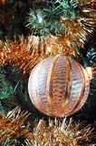 Christmas bauble and tinsel Stock Image