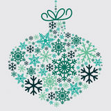Christmas bauble and tinsel Royalty Free Stock Images