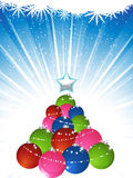 Christmas bauble tree Stock Photography
