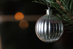 Christmas bauble on tree Royalty Free Stock Photography