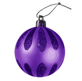 Christmas bauble - violet Stock Image
