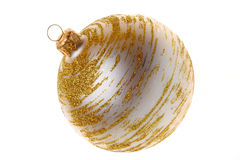 Christmas bauble on white Stock Images