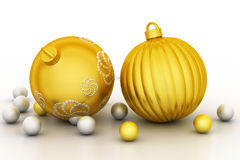 Christmas bauble. In white background Royalty Free Stock Image