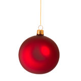 Christmas bauble on white Stock Photography