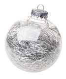 Christmas bauble on white Royalty Free Stock Images