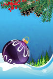 Christmas bauble on winter background Royalty Free Stock Image
