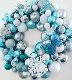 Christmas bauble wreath royalty free stock image