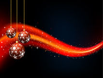 Christmas baubles stock illustration